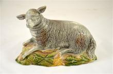 An English Ralph Wood model of a ram, circa 1785. Height 13cm.