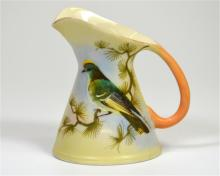 A Locke & Co Worcester vase, with exotic bird decoration, signed J. Lewis.