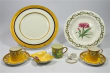 A selection of Royal Worcester pieces including a pink carnation cabinet pl