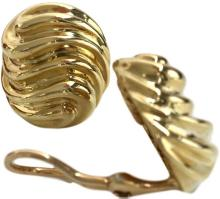1978 Van Cleef & Arpels Gold Earclips