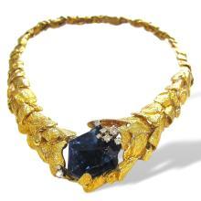 Gilbert Albert Gold And Tanzanite Necklace