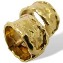 1970s Van Cleef & Arpels Hammered Gold Earrings