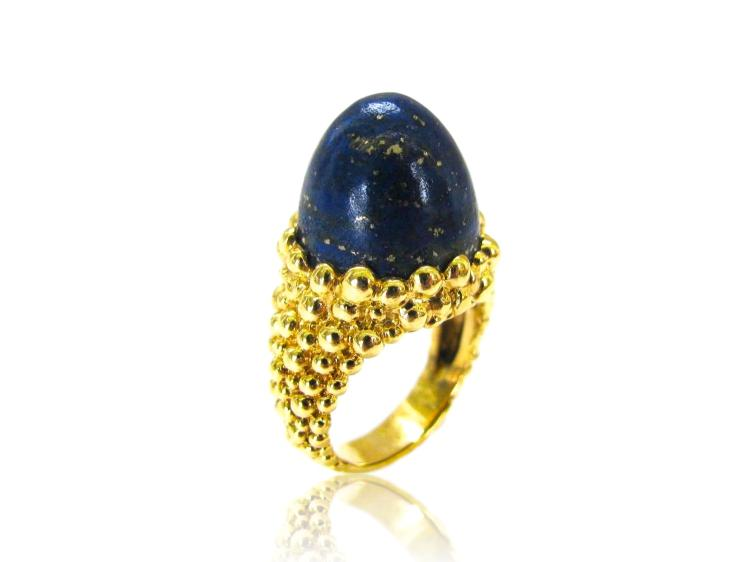 Kutchinsky Lapis Lazuli Dome Ring 1970