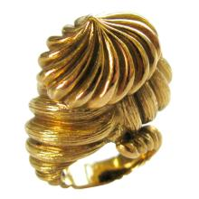 Hammerman Bros. Gold Cocktail Ring