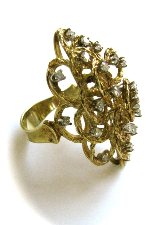 A Gold and Diamond Ring, Italy Circa 1960