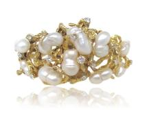 Gold Pearl Diamond Bracelet