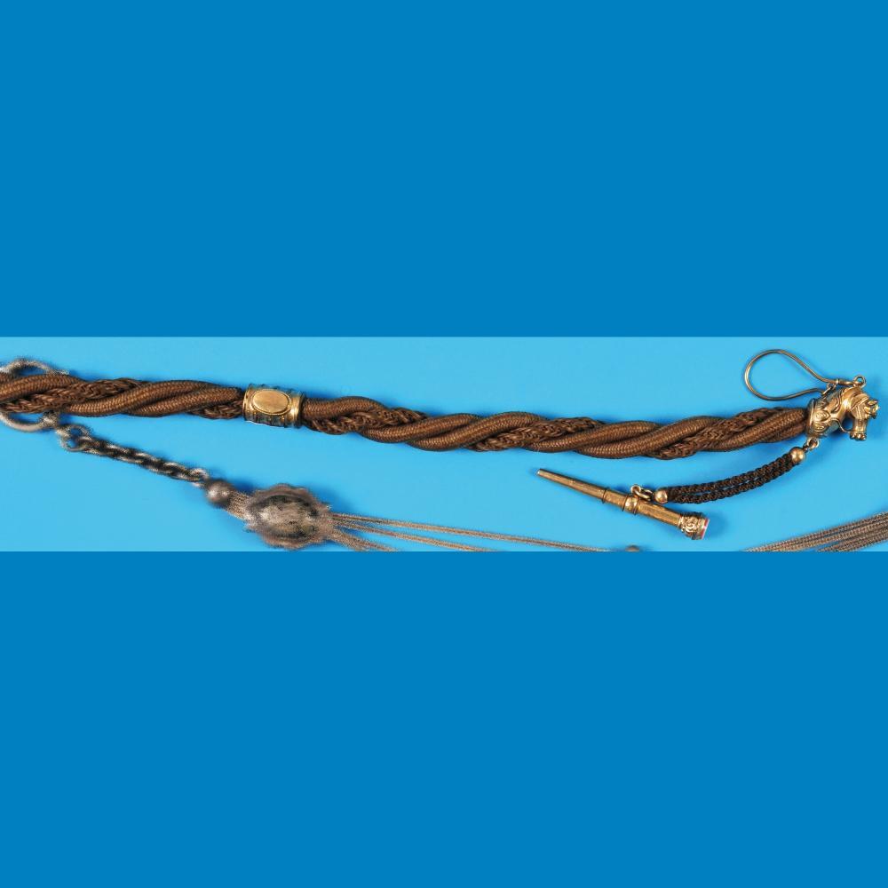 Hair pocketwatch chain