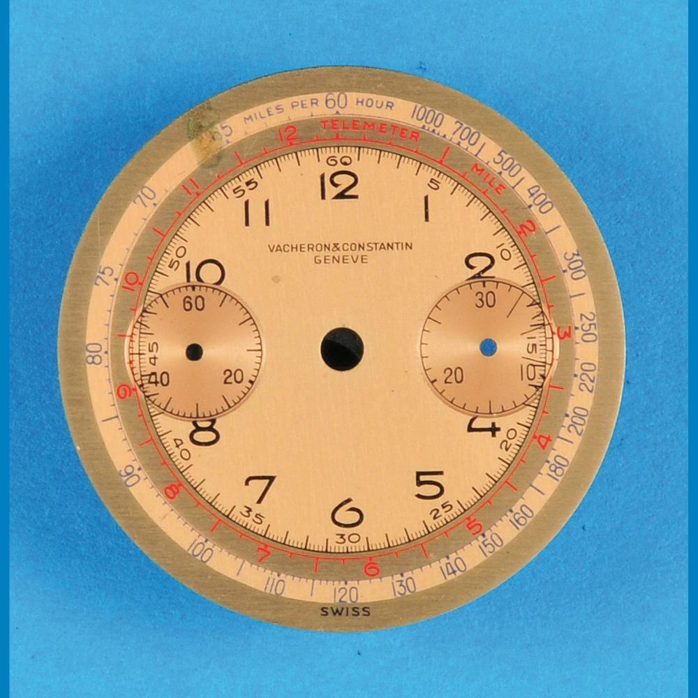 Vacheron & Constantin Genève, wristwatch chronograph metal dial