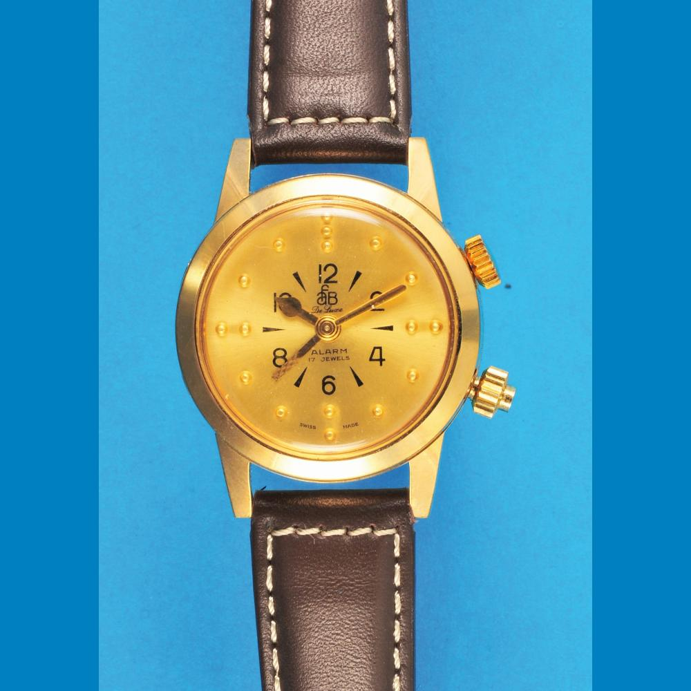 afB (American Foundation for the Blind) De Luxe Alarm wristwatch for blind persons