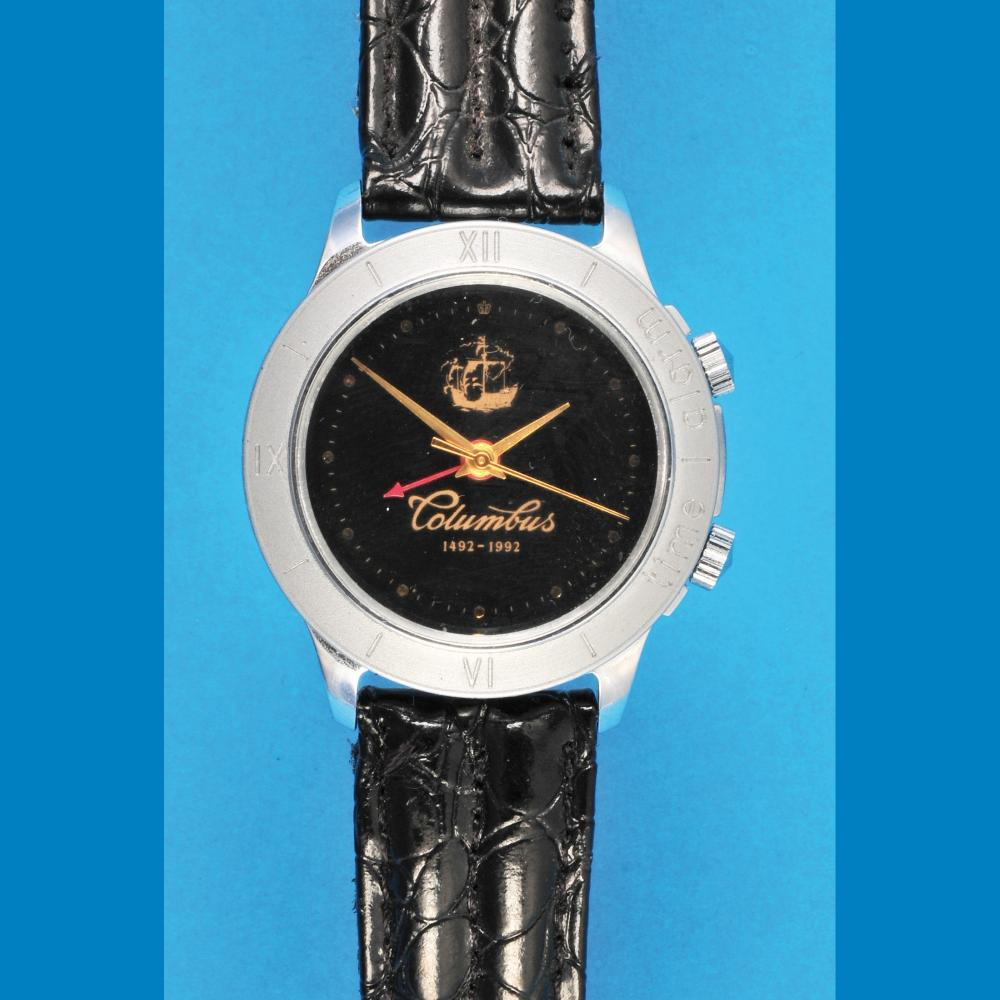 """Poljot """"Columbus 1492- 1992"""" Anniversary Wristwatch with alarm and central second hand"""