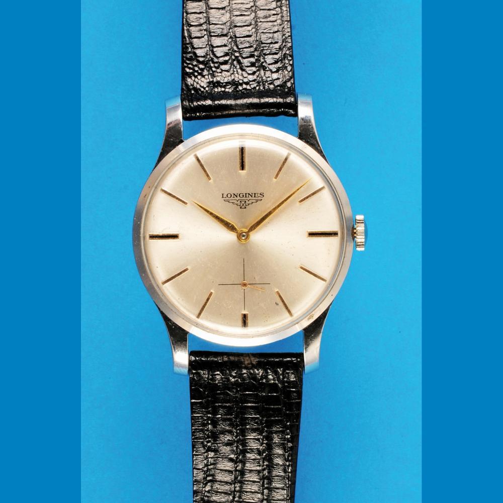Longines steel wristwatch