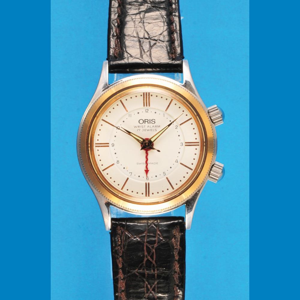 Orist Wrist Alarm, Bi- Color-steel wristwatch