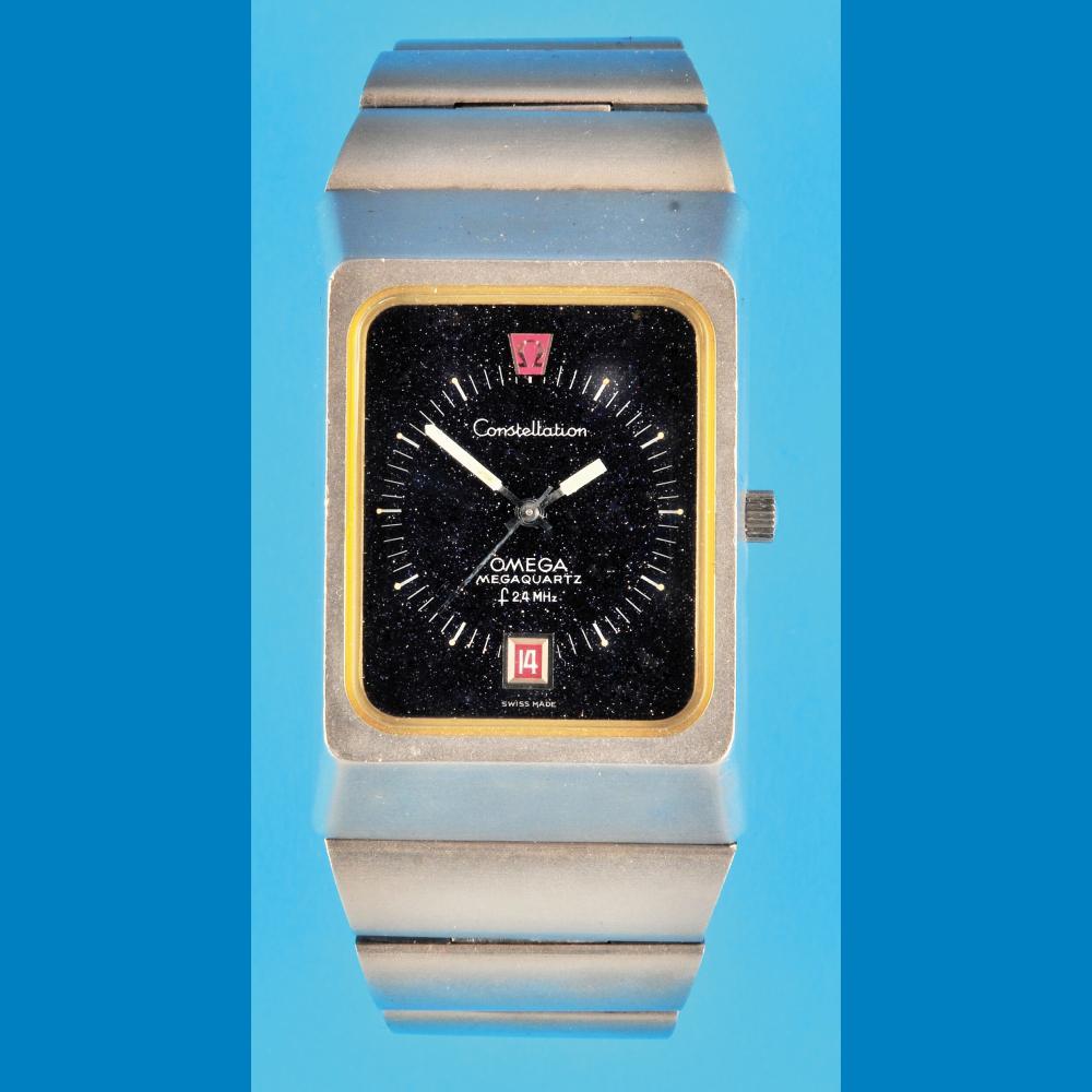 Omega Constellation Megaquartz f24Mhz steel wristwatch