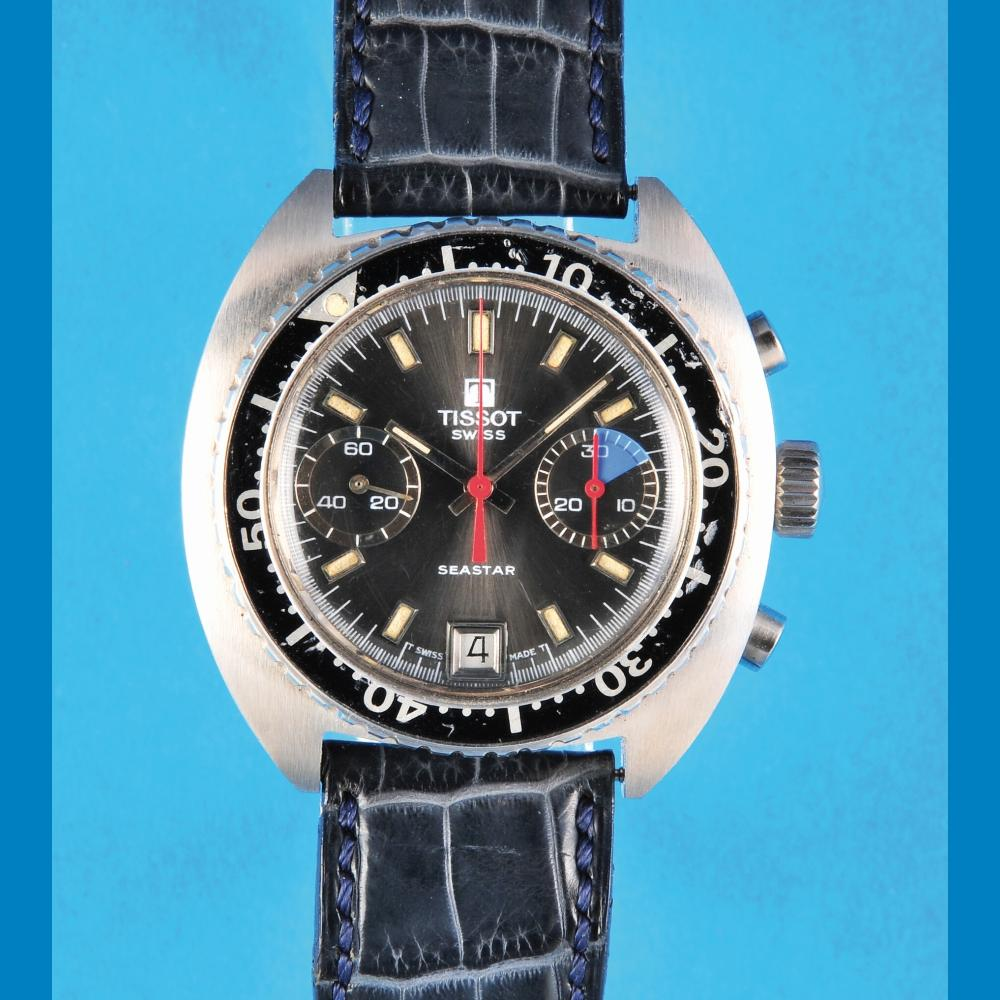 Tissot Seastar, steel wristwatch chronograph