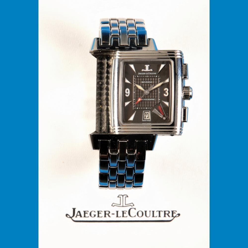 Jaeger-LeCoultre Reverso Gran Sport Chronographe Retrograde, Referenz 295.8.59, steel wristwatch