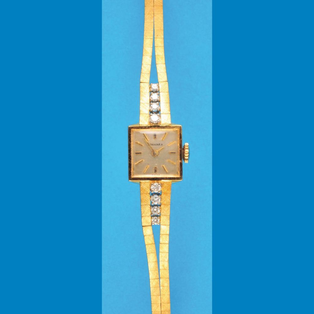 Longines golden juwelry wristwatch