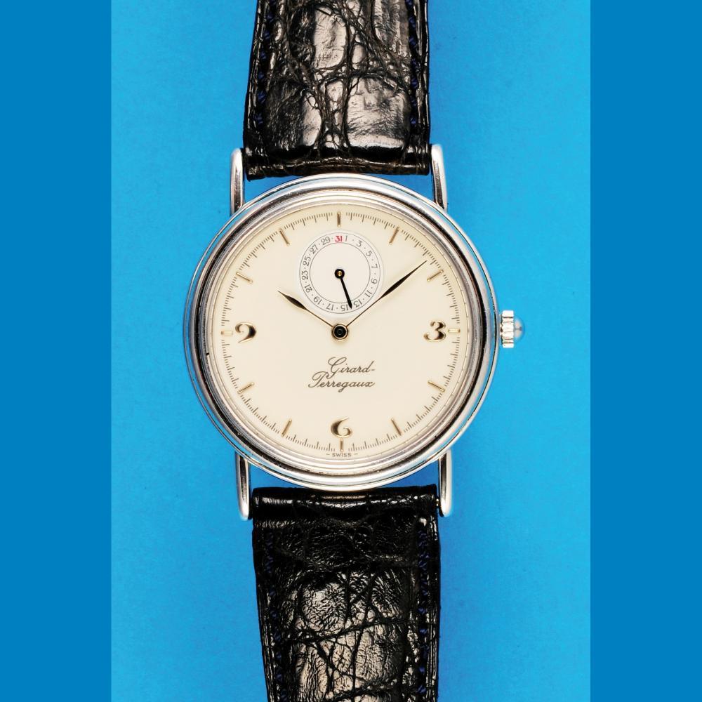 Girard Perregaux, white gold wristwatch