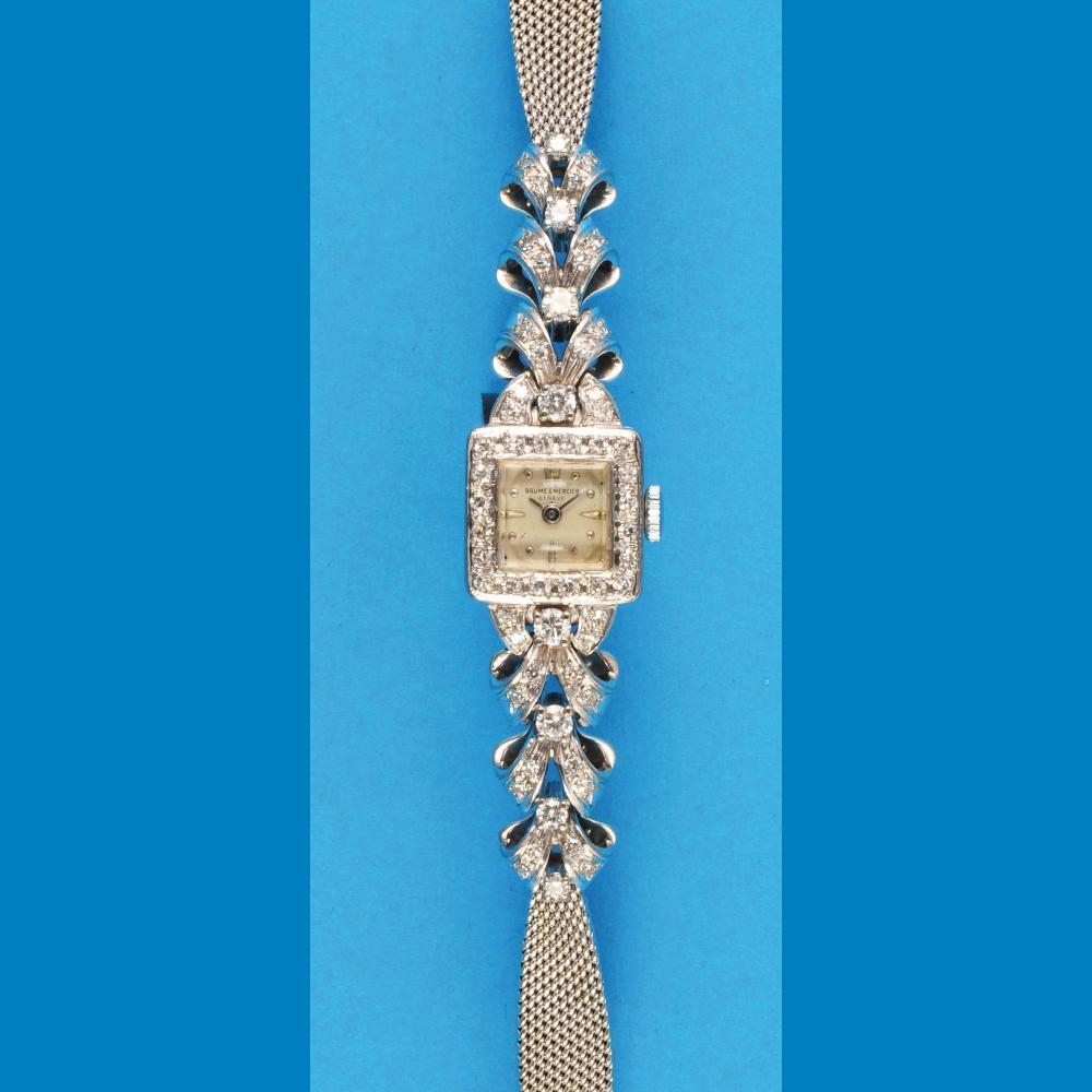 Baume & Mercier ladies white gold/brillant juwelry wristwatch