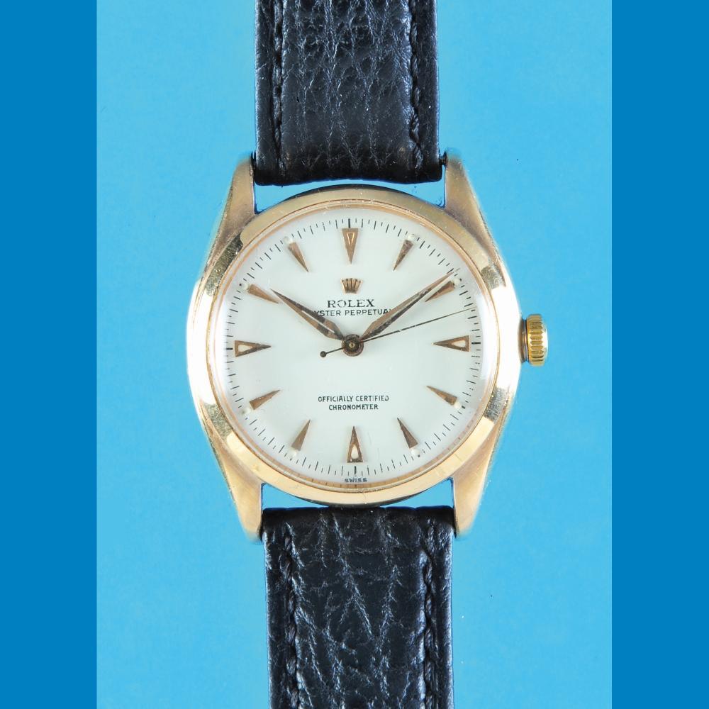 Rolex Oyster Perpetual Chronometer golden wristwatch