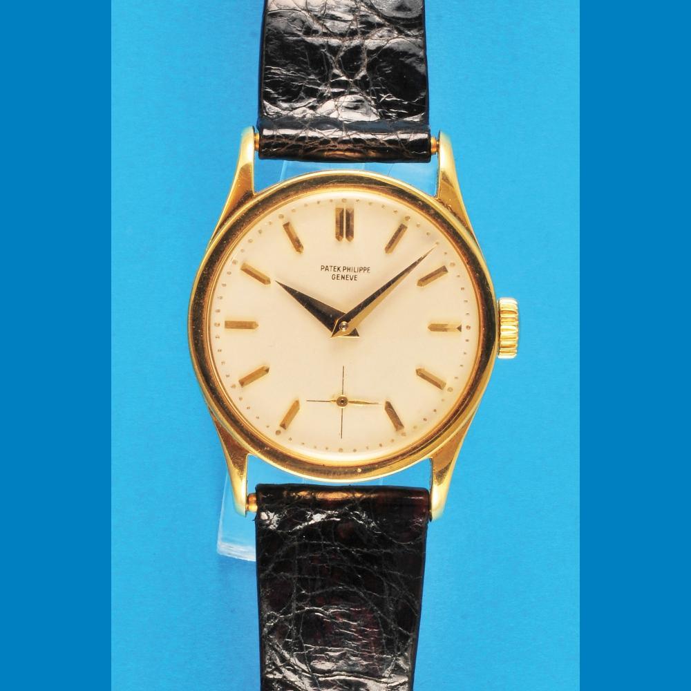 Patek Philippe & Co. Genève, golden wristwatch