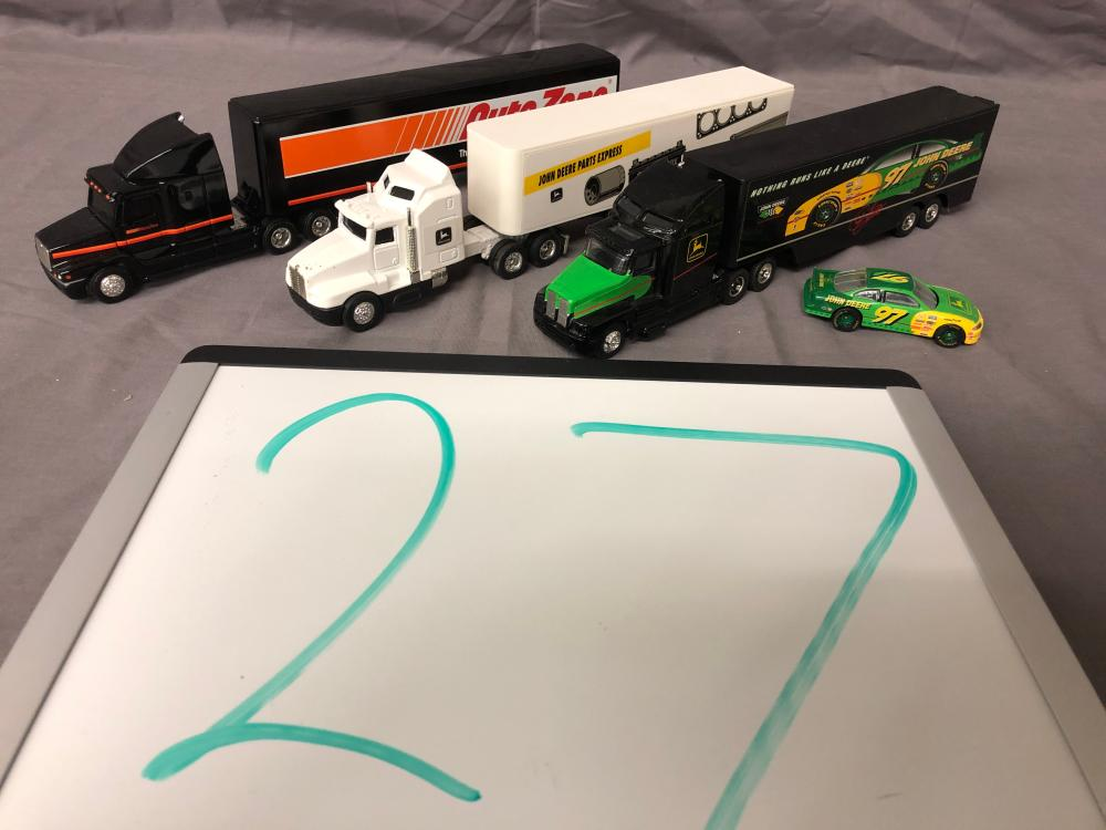 (3) 1/64th Scale Semis