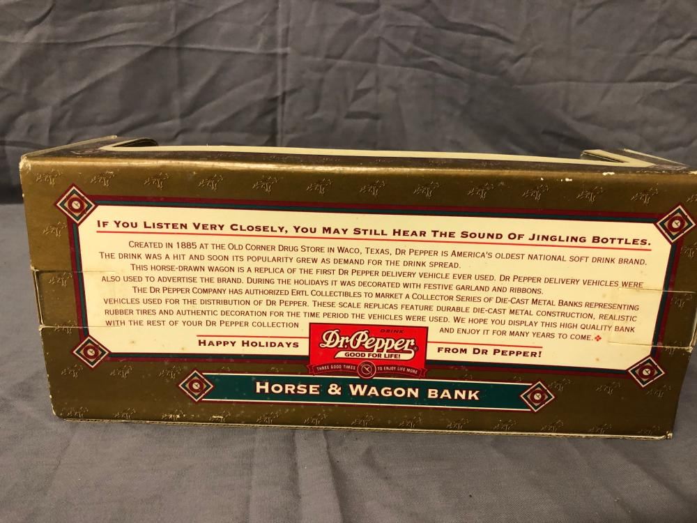 Lot 24: 1/32nd Scale Dr. Pepper Horse & Wagon Bank