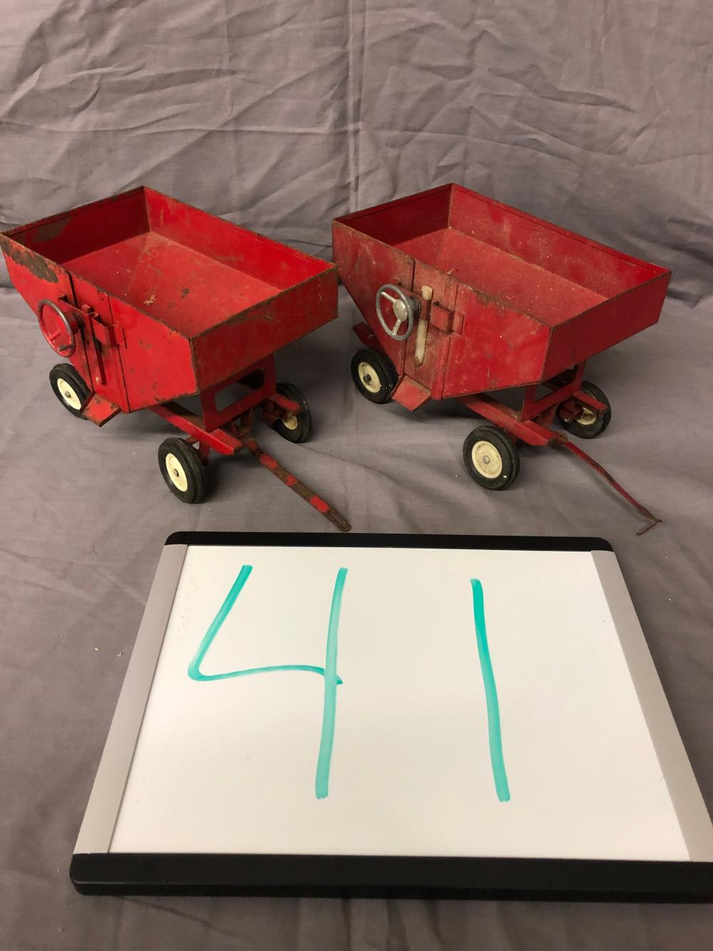 Lot 41: (2) 1/16th Scale Gravity Flow Wagons