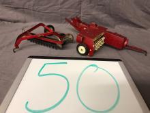 Lot 50: 1/16th Scale Baler & Rake