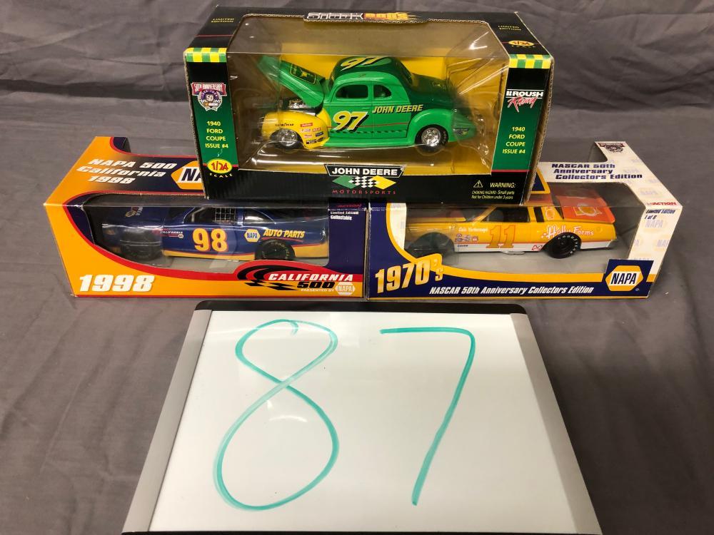 (3) 1/24th Scale NASCAR Cars