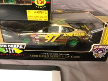 Lot 90: (3) 1/24th Scale Chad Little John Deere Cars