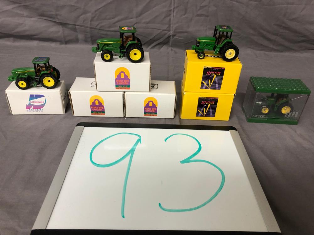 (7) 1/64th Scale John Deere Expo Tractors