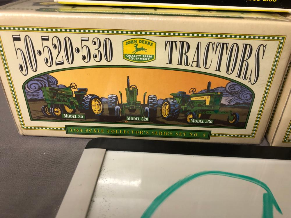 Lot 96: (3) 1/64th Scale John Deere Tractor Sets