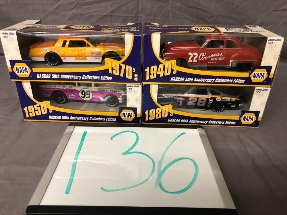 (4) 1/24th Scale NASCAR Cars