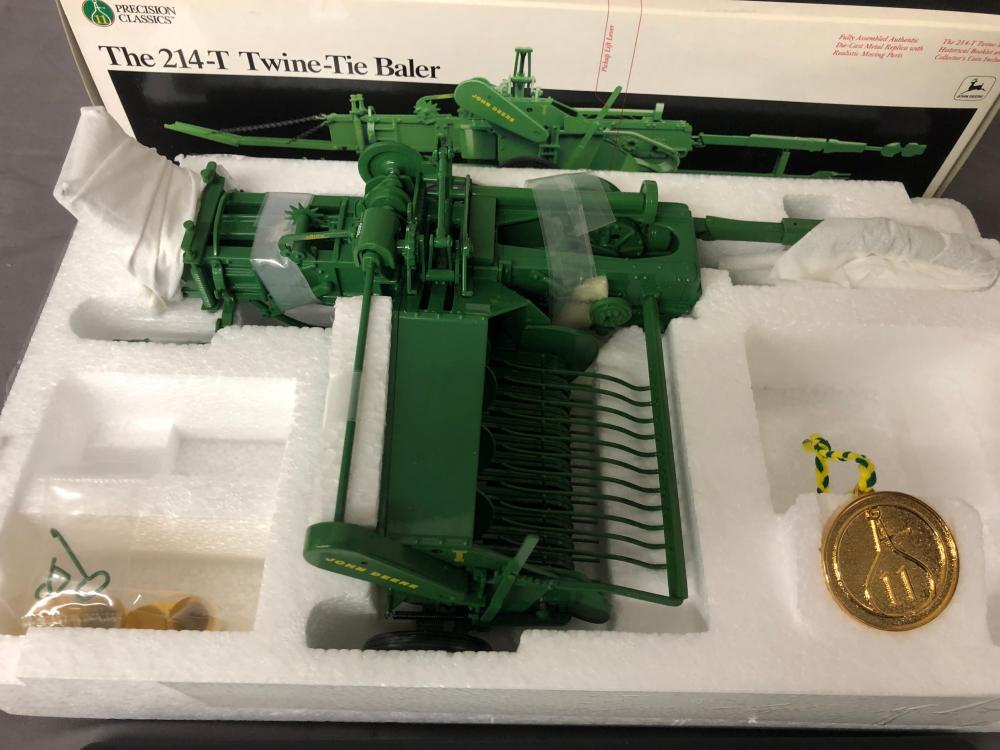 Lot 137: 1/16th Scale Precision John Deere 214-T Twine-Tie Baler