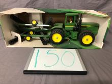 Lot 150: 1/16th Scale John Deere 4-Wheel Drive Tractor & Disk Set