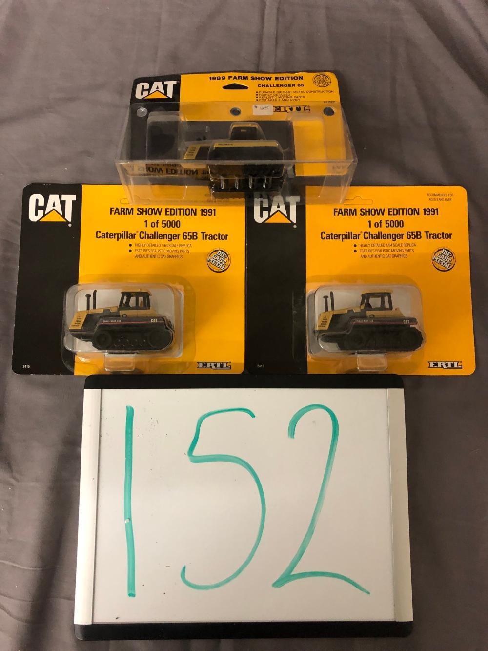 (3) 1/64th Scale Caterpillar Tractors