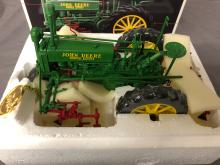 Lot 165: 1/16th Scale Precision John Deere A with 290 Cultivator
