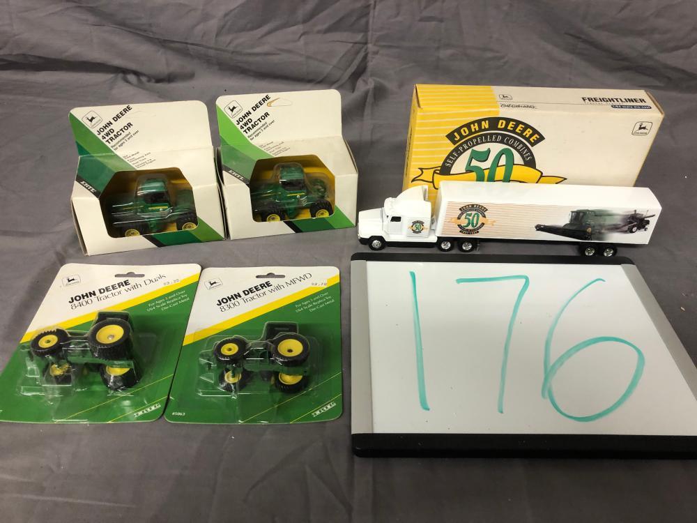(5) 1/64th Scale John Deere Toys