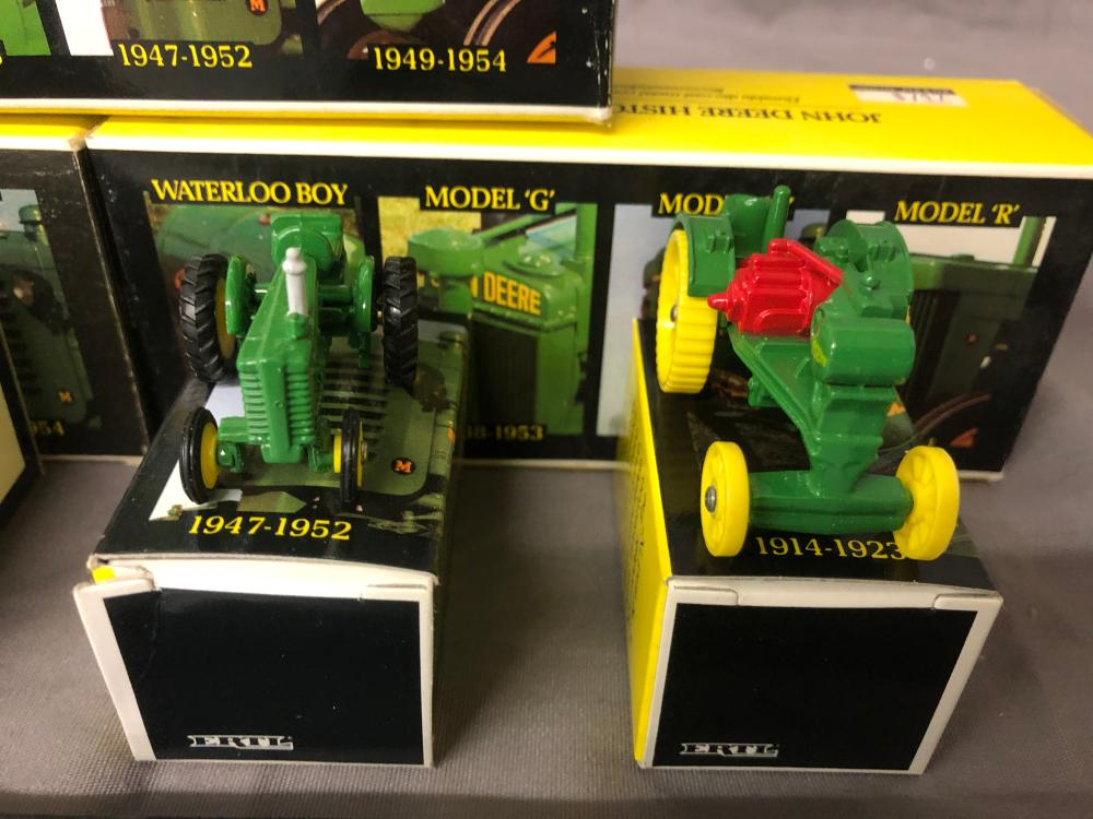 Lot 184: (3) 1/64th Scale John Deere Historical 4 Piece Sets