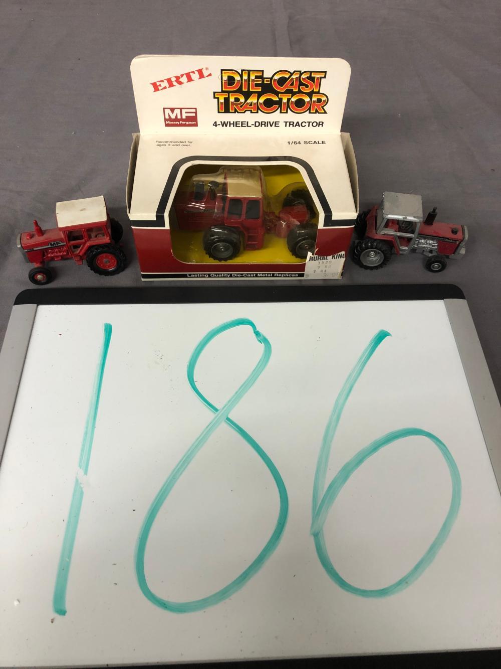 (3) 1/64th Scale Massey Ferguson Tractors