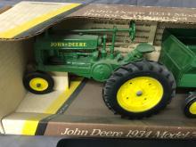 Lot 194: 1/16th Scale John Deere A & Wagon