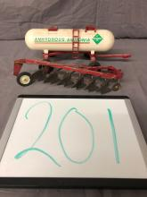 Lot 201: 1/16th Scale International Plow & Anhydrous Tank