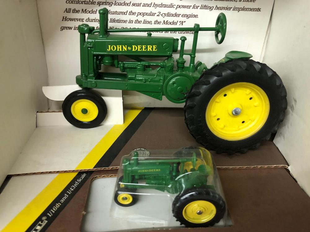 Lot 206: John Deere Model A Tractor Set