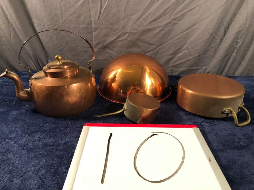 Lot 4 Copper Kitchen Items