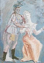 Léonor FINI (1907-1996)  SCÈNE DE THÉATRE