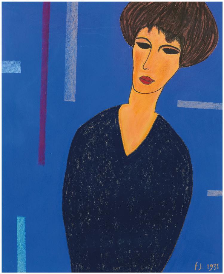 Francis JOURDAIN (1876-1958) PORTRAIT DE FEMME