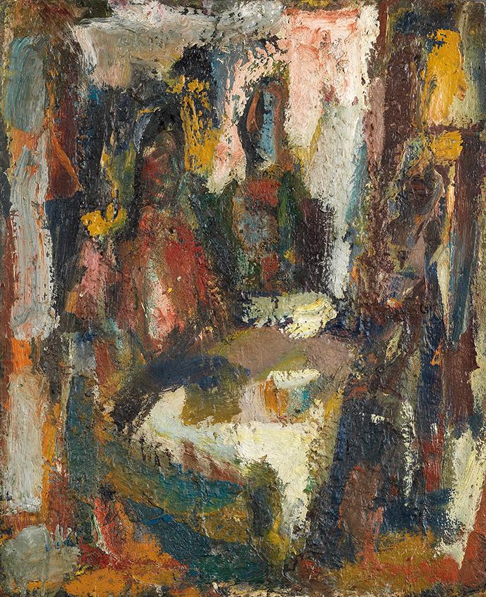 Eugène LEROY (1910-2000)  À LA CUISINE