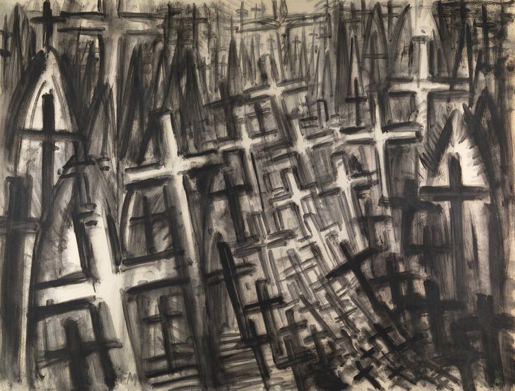 Frans MASEREEL (1889-1972)  PROJETS POUR LA DIVINE TRAGÉDIE