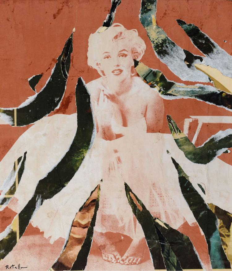 Mimmo ROTELLA (1918 - 2006) DOLEE MARILYN