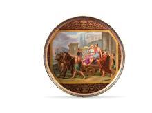 GRAND PLATEAU ROND   XIXe siècle, dans le goût de Vienne